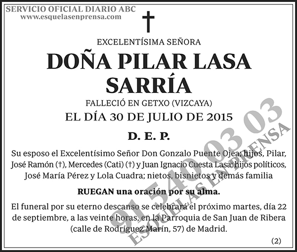 Pilar Lasa Sarría
